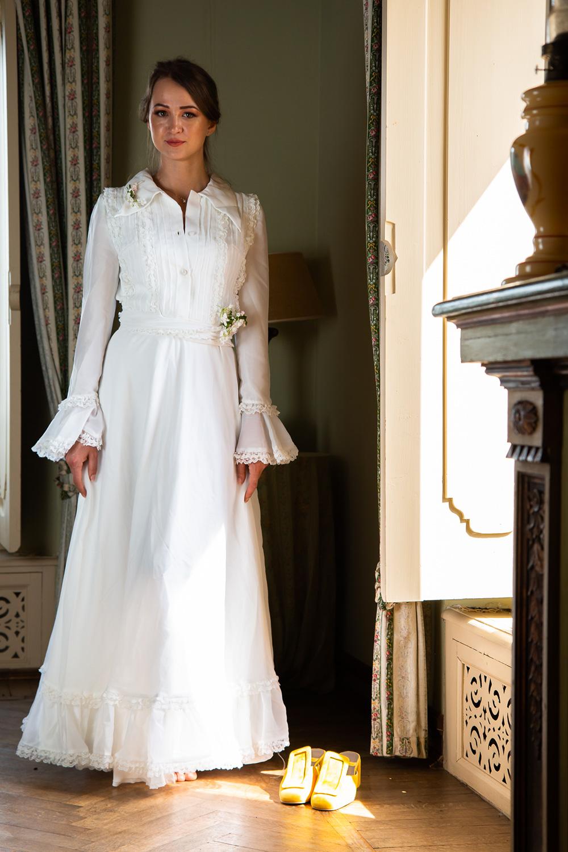 Vestiti Da Sposa Anni 70.Abito Da Sposa Vintage Chemisier Anni 70 Ricottine Vintage Shop