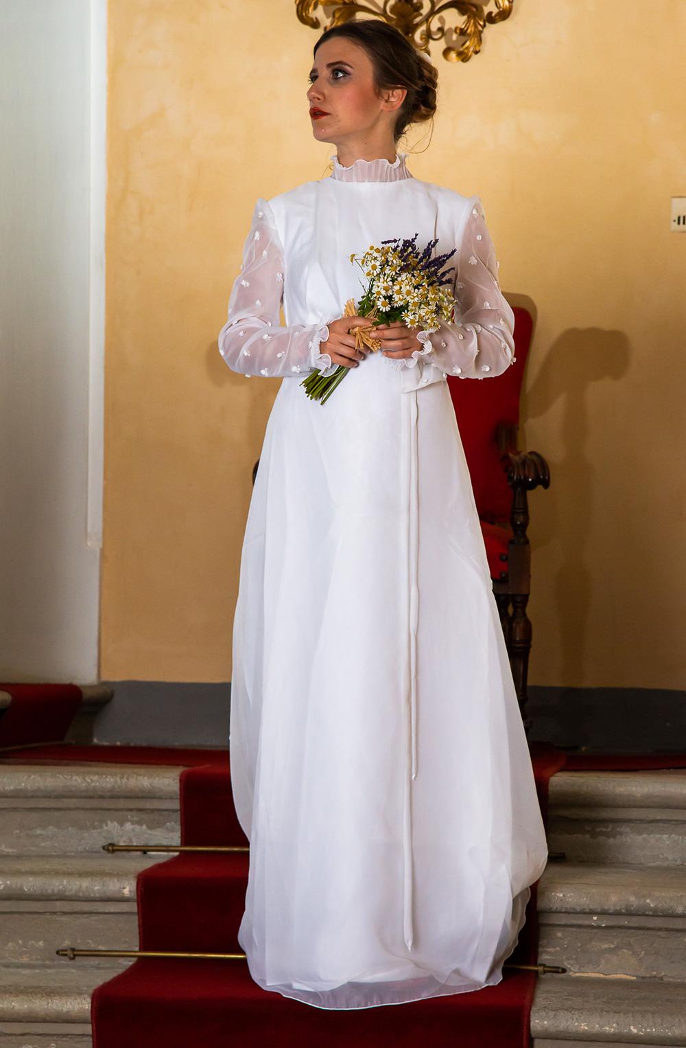 Vestiti Da Sposa Anni 80.Abito Da Sposa Vintage Anni 70 Ricottine Vintage Shop